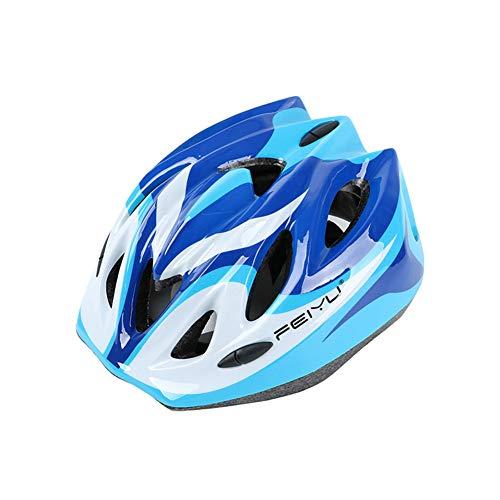 MAKE FINE CE-Zertifizierter Kinderhelm Leichtgewicht Fahrradhelm Skateboard Rollschuh Balance Profi Helm Outdoor Sport Verstellbarer Helm,Blue