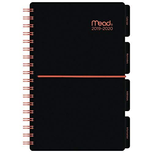 Mead CAW39049 Akademischer Jahresplaner 2019-2020 mit Tasche, 8,9 x 16,5 cm, Schwarz mit...