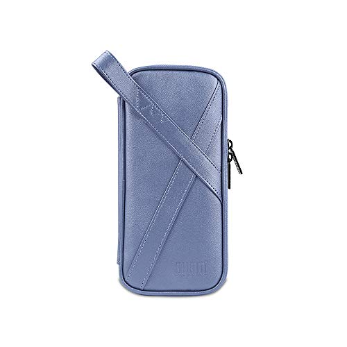 Docooler BUBM PVC/PU tragbare Aufbewahrungstasche Digital Protection Storage Bag für Switch Game Console mit 10 Kartenfächern Handtaschen wasserdicht stoßfest blau
