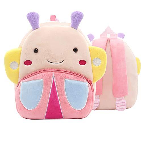 Jungen zaino per bambini in peluche zaino per bambini piccoli per bambini zaini per bambini a forma di animali simpatici per viaggi scolastici (farfalla)