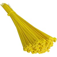 9a52e09d1712 Kafton Nylon Cable Ties 370mm x 7.6mm Yellow Zip ties Zip tie Wraps Pack of