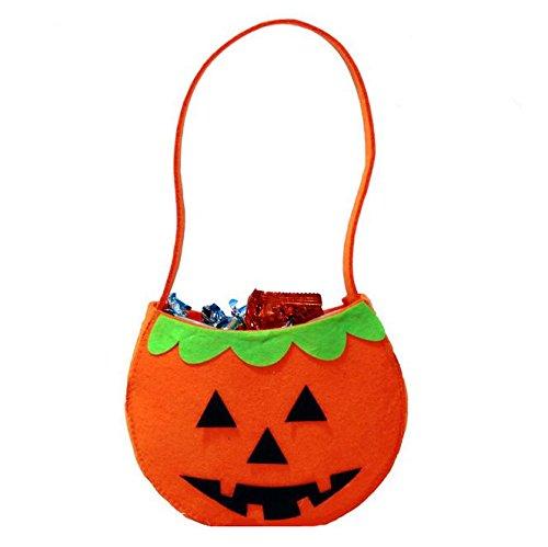 Halloween Props Children's hand-held pumpkin bag Non-woven gifts Candy Bags Bag , orange 1