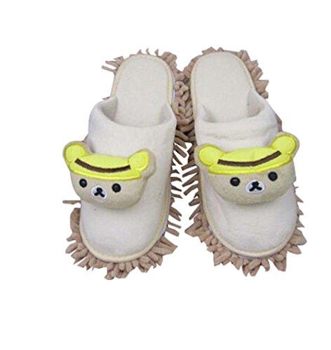 Baumwolle Pantoffeln Lazy Wischen Pantoffeln Boden Glatte Sohlen Schuhputzmaschinen Hausschuhe