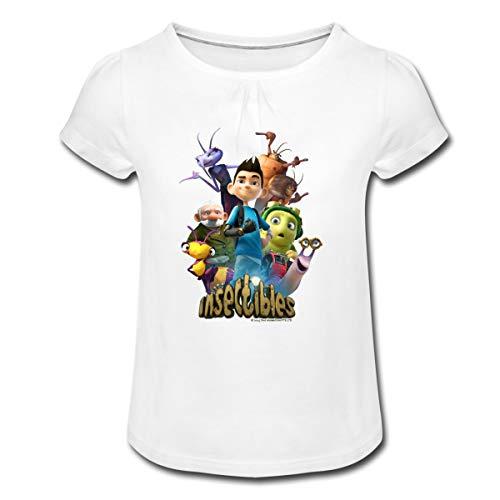 Insectibles Zak und Serienfiguren Mädchen T-Shirt mit Raffungen, 2 Jahre, Weiß