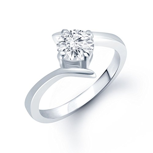 Amaal Silver American Diamond Cz Ring Jewellery For Women