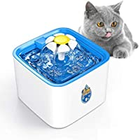 نافورة مياه للكلاب من انو تيك، 2.5 لتر/84اونصة  نافورة مياه أوتوماتيكية للقطط مع 3 فلاتر بديلة و1 حصيرة سيليكون للقطط والكلاب والحيوانات الأليفة المتعددة
