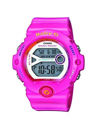 Reloj cuarzo Casio Para Mujer Con  Gris Digital Y Rosa Resina BG-6903-4BER