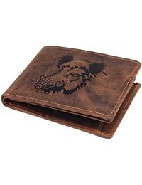 Greenburry Vintage Porte-monnaie motif sanglier cuir 12 cm braun