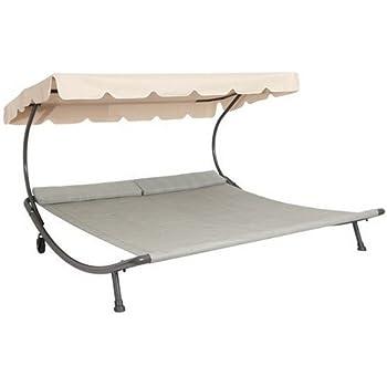 loywe sonnenliege doppelliege mit dach f r 2. Black Bedroom Furniture Sets. Home Design Ideas