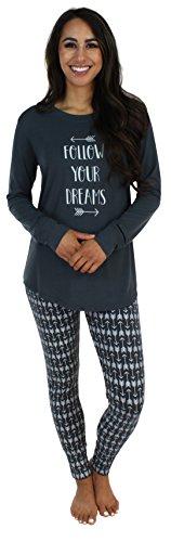 Sleepyheads Ropa de Dormir para Mujer Conjunto de Pijama con Parte Superior y Mallas