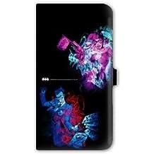 Leather flip Carcasa Case Samsung Galaxy Note 4 WB License Batman 2 - - joker queen N