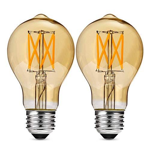 Albrillo dimmbar E27 LED ersetzt 40W Glühlampe, Filament Glühbirne Retro Edison Vintage, warmweiß