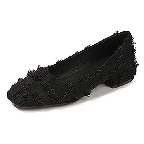 Frauen Flache Schuhe Niedrige Ferse Karree Damen Stilvolles Büro Arbeitsmokassins - Sienna-ballerina Schuh