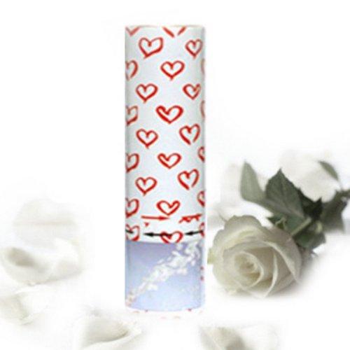 Weißer Rosen Regen Konfetti Kanone Shooter Hochzeit Konfettibome Partypopper