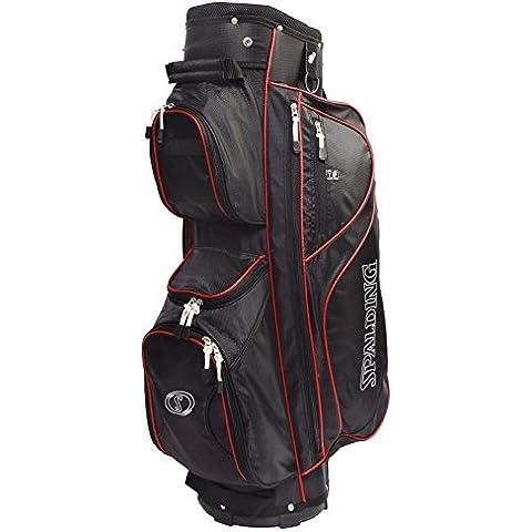 Spalding-Sacca da Golf Deluxe, con 14 scomparti - Borse Grafite Stand