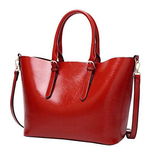 YiLianDa Modetrend Handtaschen Schulter Tasche Handtaschen Frauen Handtasche Rot