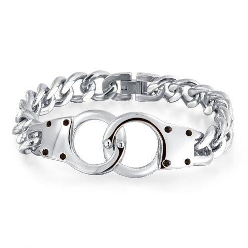 Bling Jewelry Geheimnis Schattierungen Mens 8.5in Handschellen Armband -