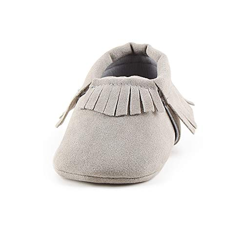 OOSAKU Baby-Mädchen-Säuglingskleinkind-weiche alleinige Quasten-Mokassins Rutschfeste erste Wanderer-Krippen-Schuhe