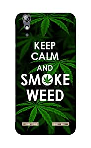Back Cover for Lenovo A6000 Plus KEEP CALM AND SMOKE WEED