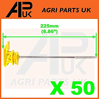 APUK 50 Electric Fence Long Screw Poly Tape Ribbon Insulators 20mm 40mm Off set Rope
