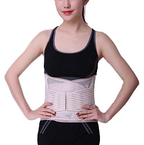 DaiHan Rückenbandage mit Stützstreben und Verstellbare Zuggurte und atmungsaktiver Nylonstoff ideal für Arbeitsschutz entlastet die Rückenmuskulatur und zur Haltungskorrektur Haut 4XL