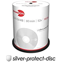 Primeon 2761103CD-R Blank Discs (80Minute, 700MB, Spindle 52x CAKE BOX, Pack of 100)