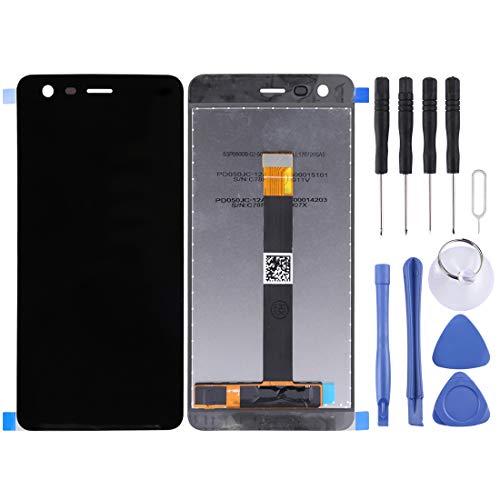 JIN-DE LCD Screen und Digitizer Full Assembly für Nokia 2 (Schwarz) (Color : Black) Middle Housing Assembly