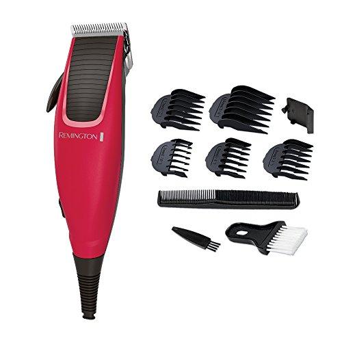 Remington HC5018 Haarschneider Apprentice, hochwertige, selbstschärfende Stahlklingen, 0,5 mm Präzisionsklinge, rot