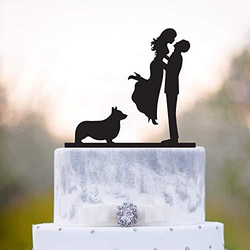 Ethelt5IV Hochzeitstorte Topper mit dogwelsh Corgi Hochzeitstorte toppercake Topper dogtopper mit dogcake Topper mit dogcorgi hundekuchen toppera29