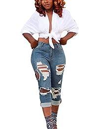 2e90fba4ade Pantalones Vaqueros De Mezclilla Pitillo De Talle Medio para Mujer Pantalón  Pitillo Elástico Pantalón Largo hasta