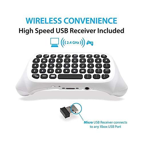 Jasnyfall 47 Keys Wireless 2.4G praktische Mini-Handheld-Gaming-Tastatur für Xbox One S-Farbe: weiß
