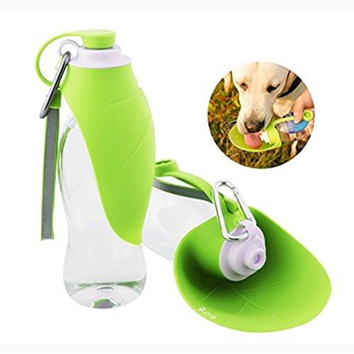 DAN Haustier Reise Wasser Flaschen Erweiterbarer Silikon Hundewasser Flaschen Zufuhr (20 Oz Essen)