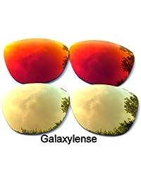 Galaxylense lentes de repuesto para Oakley Frogskins oro y rojo Color Polarizados 2 Pares - oro y rojo