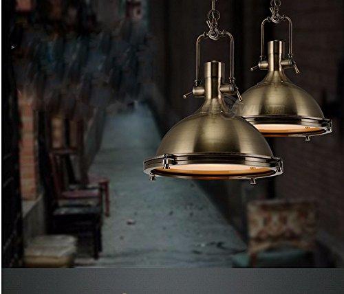 ZQ@QX Decorazione della casa Tavolo da pranzo dell'annata semplice cromo lucido bar Lampadario in ferro battuto del