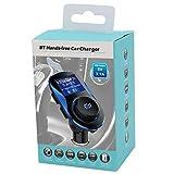 BYSK Kfz-Ladegerät FM-Transmitter-Funkadapter, Bluetooth-Empfänger, App-Unterstützung, Dual-USB-Autoladegerät-Ausgang Test
