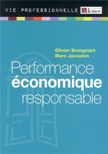 Performance économique responsable par Olivier Brongniart, Marc Jacouton