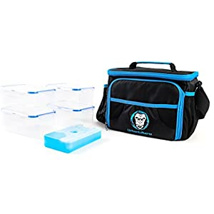41cU1Hpg0qL. SS300  - Urban Lifters Meal Prep Bag. Lightweight Bag complete with 4 containers + ice pack. Ideal for Meal Management. Insulated…
