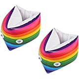 Generic 1 Pair Inflatable Kids Swimming Arm Floats Boys Girls Children Learn to Swim Bands for 3 Years and Older - Rainbow Color