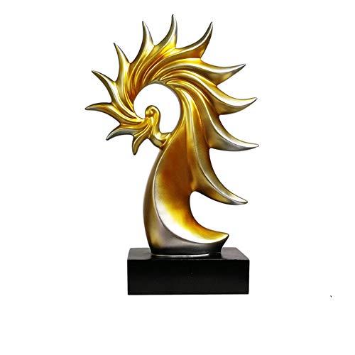 LJSHU Kreative Resin Skulptur Simple Modern European Conch Art Handwerk Perfekte Weinkrank Schlafzimmer Wohnzimmer Wohnzimmer-Dekoration,Gold