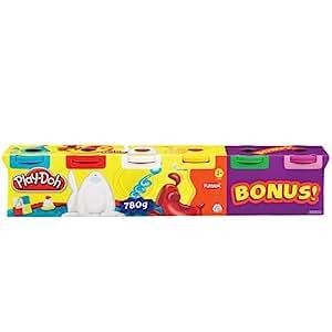 Play-Doh - Loisir Créatif - Pâte à Modeler -  4 + 2 Couleurs Primaires