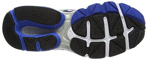 Mizuno Wave Connect 3, Chaussures de Running Compétition Homme Bleu - Blue (Skydiver/Silver/Green Gecko)