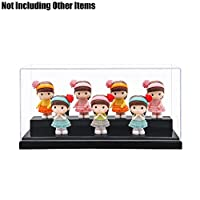 Tingacraft Acrylic Display Case (19.5 x 8.5 x 8.5 cm) for Collection, No Assembly Required (Black)