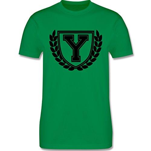 Anfangsbuchstaben - Y Collegestyle - Herren Premium T-Shirt Grün