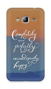 AMEZ completely and perfectly and incandescently happy Back Cover For Samsung Galaxy J3 (2016 EDITION)