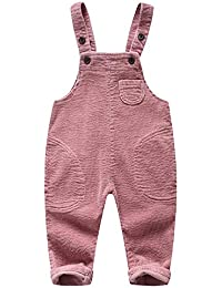 5d60784dc9916f HAPPY CHERRY Baby Latzhose aus Kord Unisex Kinder Hose mit Verstellbar  Träger Jungen Mädchen Babyhose mit