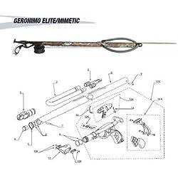 CRESSI - EFZ 355020/391 : Harpoon de remplacement: contrapeso GERONIMO PRO/ELITE 85 (20gr)