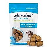 Glandex 30 Count Soft Chews Suplemento de probióticos y Fibra para Perros