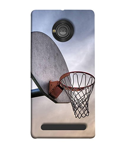 PrintVisa Designer Back Case Cover for YU Yuphoria (morning look of basketball ring)