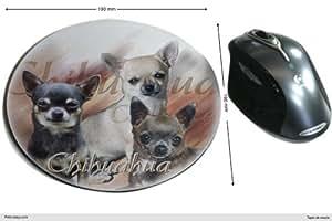 Tapis de souris tissu Chien Chihuahua-Poil-Court
