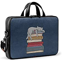 "DailyObjects How to Chill Like A Cat City Compact Messenger Bag For Up To 15.5"" Laptop/MacBook"